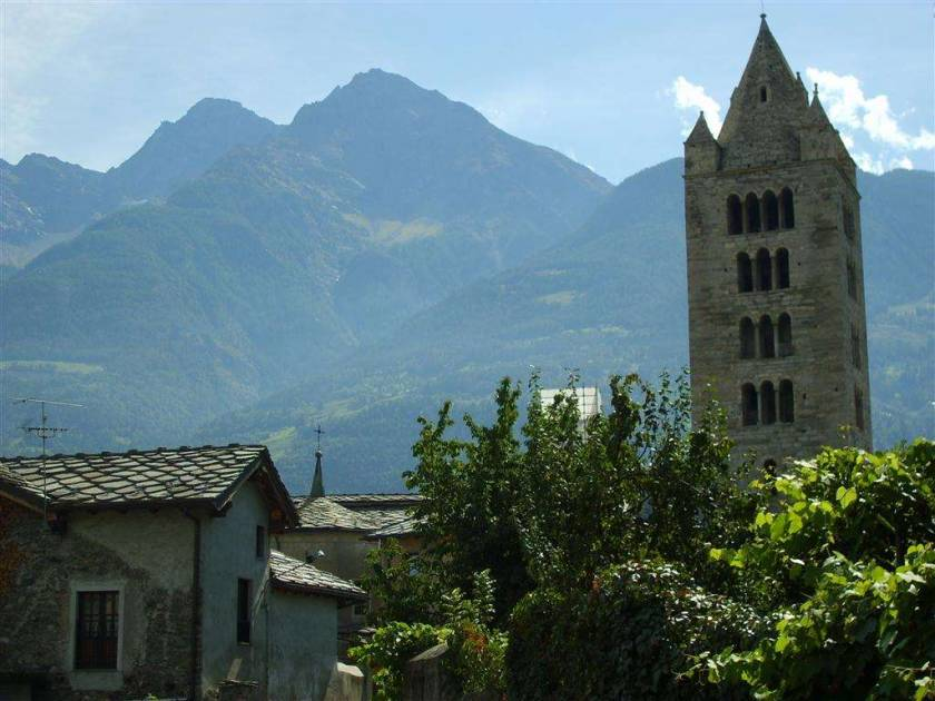 the bell tower Aosta city
