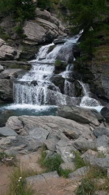 Waterfall at Lilaz, Cogne