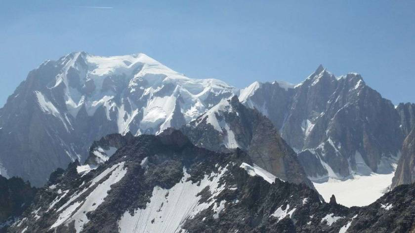 Views going up to Mont Blanc