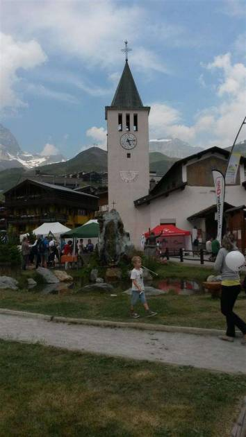 Cervinia village celebrations of 150 years since Cervinio was first climbed